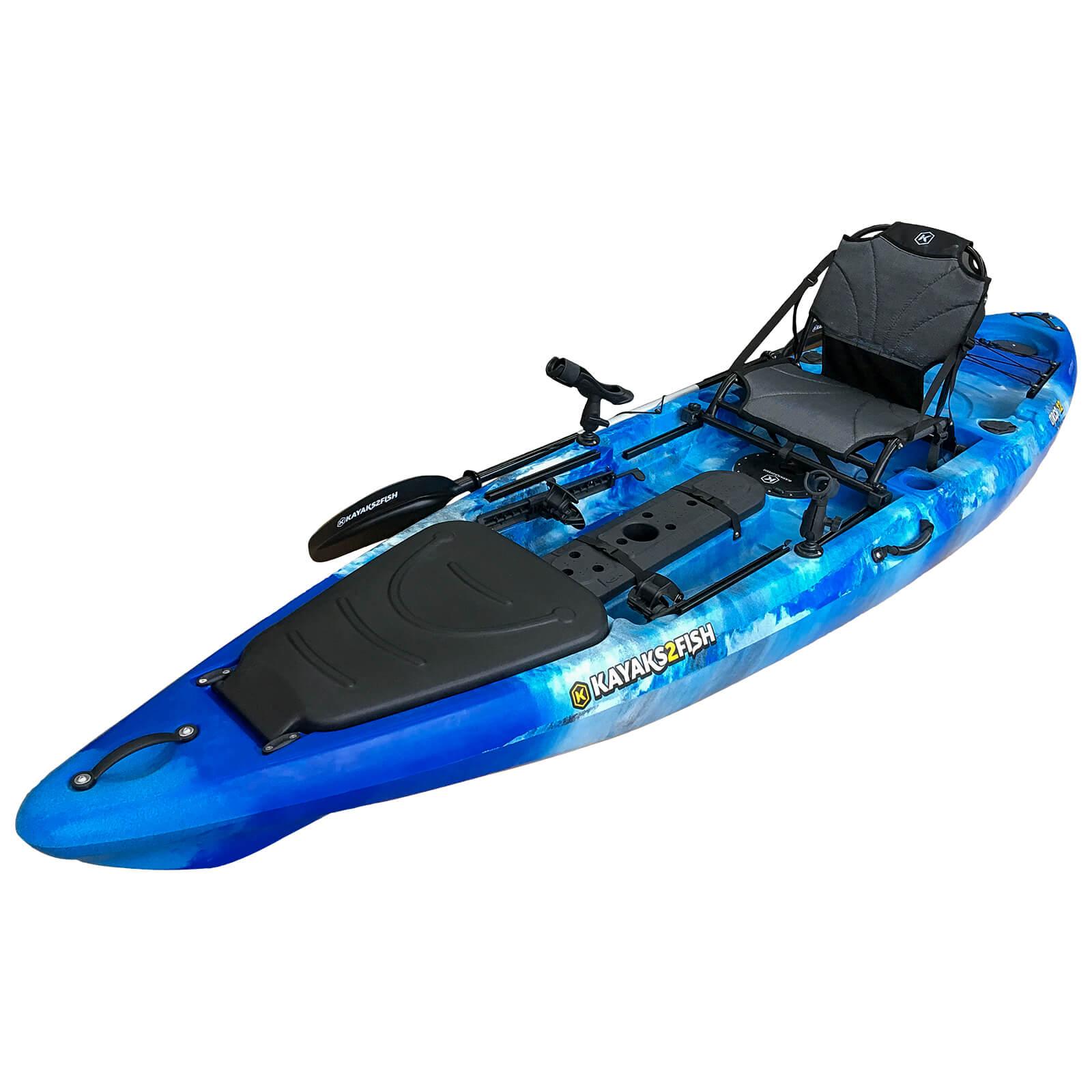 Orca 12 pro fishing kayak package blue sea kayaks2fish for Offshore kayak fishing