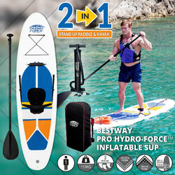 2 in 1 Inflatable Stand Up Paddle Board & Kayak (iSUP)