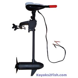 Kayak Trolling Motor - 54lb Thrust Electric Trolling Motor and Mounting Kit