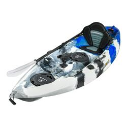 Blue Camo Fishing Kayak Package