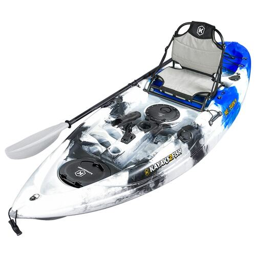 NEXTGEN 9 Fishing Kayak Package -  Blue Camo