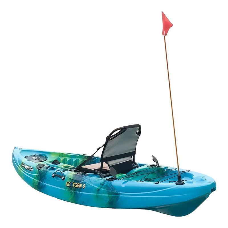 Kayak Safety Flag Telescoping With Universal Rail Mount