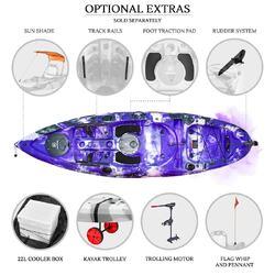 Nextgen 9 Fishing Kayak Package Purple Camo Kayaks2fish