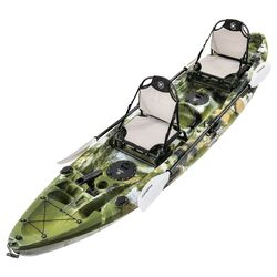 Eagle Pro Double Fishing Kayak Package - Jungle Camo