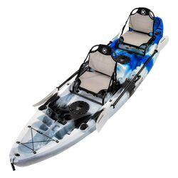 Eagle Pro Double Fishing Kayak Package - Blue Camo
