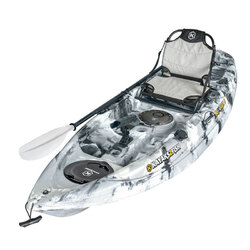 NEXTGEN 9 Fishing Kayak Package - Grey Camo