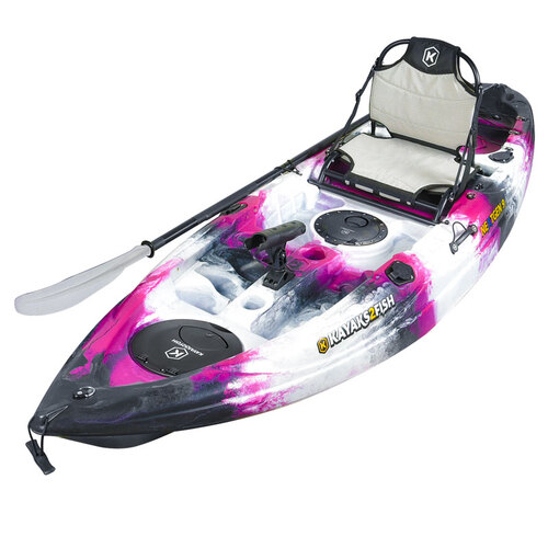 NEXTGEN 9 Fishing Kayak Package - Pink Camo